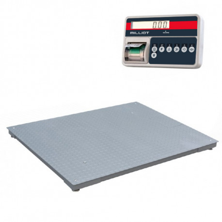 Bascule au sol  600 kg/500 g - 1200x1200 mm avec imprimante