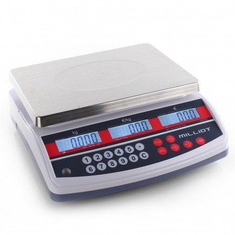 Balance poids prix robuste 15 kg/5 g - 300x230 mm