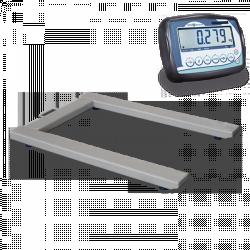 Pèse-palettes homologuée avec indicateur poids-tare