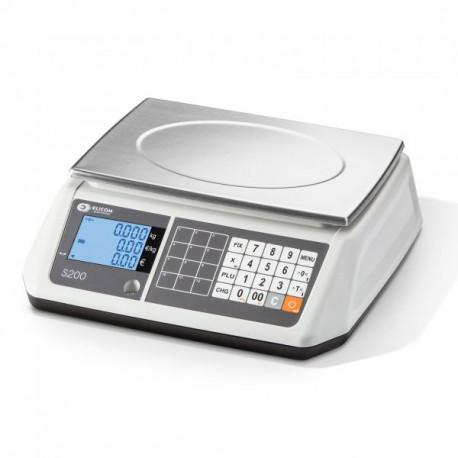 Balance poids-prix bi-échelon portée 3/6 kg, précision 1/2 g