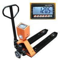 Transpalette peseur robuste  homologué 2000 kg/1 kg avec imprimante